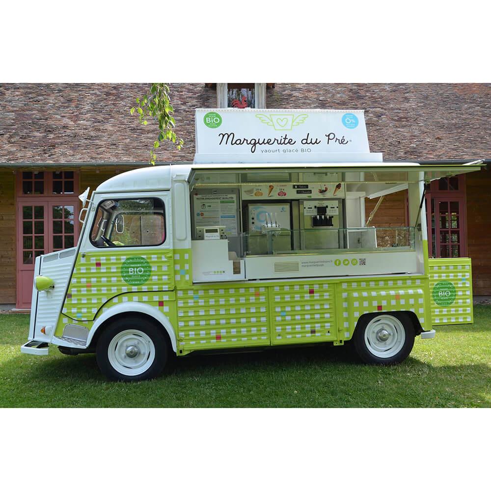 camionnette yaourt glacé bio