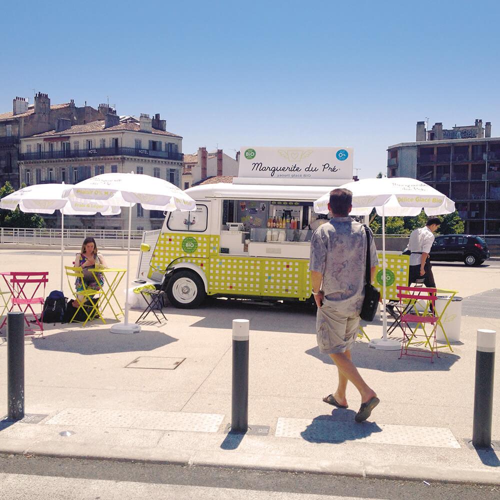 food truck bio vintage yaourt glace
