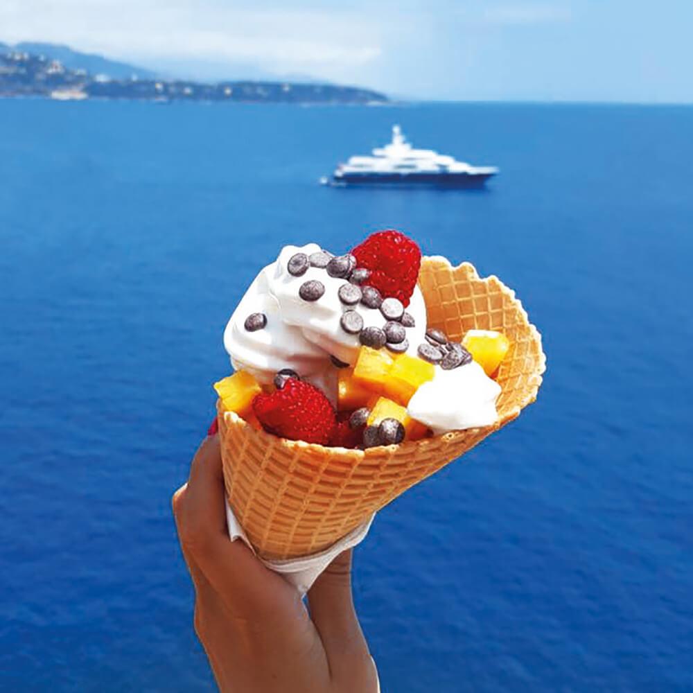 cornet yaourt glacé bio