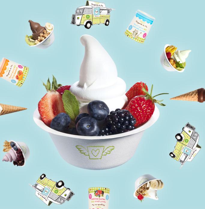 yaourt glacé bio sur événement